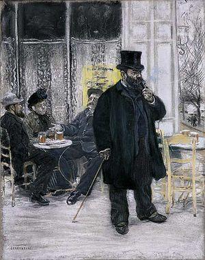 Bohèmes au café. (1886) Jean-François Raffaelli
